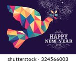 happy new year 2016 greeting... | Shutterstock .eps vector #324566003