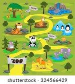 cute zoo animals set | Shutterstock .eps vector #324566429