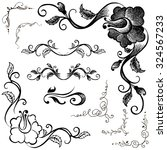 hand drawn doodle borders and... | Shutterstock .eps vector #324567233