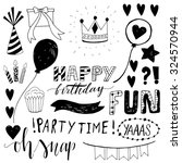 happy birthday party hand... | Shutterstock .eps vector #324570944