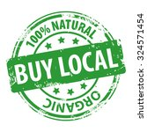 buy local 100  natural organic... | Shutterstock .eps vector #324571454