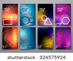 set of abstract brochures in... | Shutterstock .eps vector #324575924