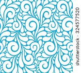 floral seamless pattern with... | Shutterstock . vector #324577520