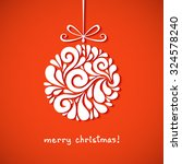 christmas decoration of swirl... | Shutterstock . vector #324578240