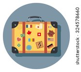 travel bag flat icon in circle | Shutterstock .eps vector #324578660