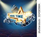movie star light | Shutterstock .eps vector #324585884