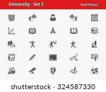 university icons. professional  ... | Shutterstock .eps vector #324587330