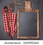 cutting board  tablecloth ...   Shutterstock . vector #324590264