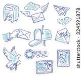 set of vector elements on the... | Shutterstock .eps vector #324591878