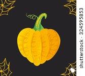 pumpkin for halloween  on a... | Shutterstock .eps vector #324595853