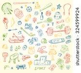 sports. vector set of sports... | Shutterstock .eps vector #324599924