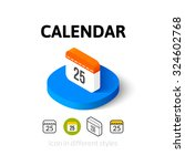 calendar icon  vector symbol in ...