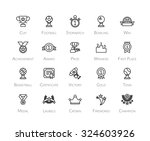 outline icons thin flat design  ...