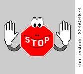 stop   do not enter  no entry ... | Shutterstock .eps vector #324604874