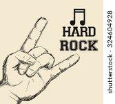 hard rock design with music... | Shutterstock .eps vector #324604928