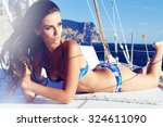 fashion outdoor summer photo of ... | Shutterstock . vector #324611090