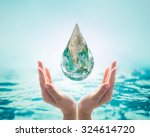 save water  save earth and go... | Shutterstock . vector #324614720