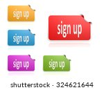 label set sign up image with hi ... | Shutterstock . vector #324621644