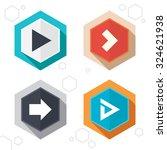 hexagon buttons. arrow icons....