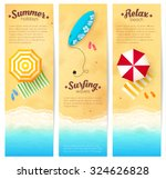 Set Of Vector Summer Travel...