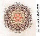 all seeing eye ornate mandala.... | Shutterstock .eps vector #324630779