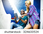 diverse architect people group... | Shutterstock . vector #324633524