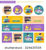 set of concept investment gold... | Shutterstock .eps vector #324635534