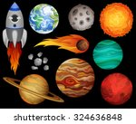 planets and outer space design... | Shutterstock .eps vector #324636848