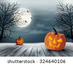 halloween spooky background.... | Shutterstock .eps vector #324640106