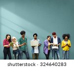 students learning education... | Shutterstock . vector #324640283