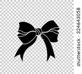 Bow Vector Icon   Black...