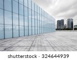 empty  modern square and... | Shutterstock . vector #324644939