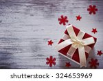 box with christmas gifts and... | Shutterstock . vector #324653969