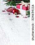 box with christmas gifts and... | Shutterstock . vector #324654116