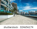 seafront near luxury buildings... | Shutterstock . vector #324656174