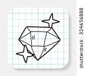 doodle diamond | Shutterstock . vector #324656888