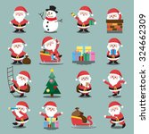 santa clauses set for christmas