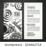 cafe menu restaurant brochure. | Shutterstock .eps vector #324662714
