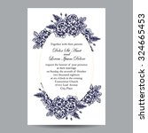 invitation with floral... | Shutterstock .eps vector #324665453