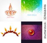 vector collection of diwali... | Shutterstock .eps vector #324666446