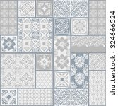 seamless patchwork tile with... | Shutterstock .eps vector #324666524