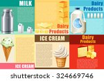 infographic with dairy products ... | Shutterstock .eps vector #324669746
