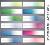 collection of web banner modern ... | Shutterstock .eps vector #324671048