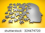 Stock photo puzzle head 324674720