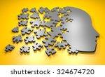 Stock photo puzzle head 324674720