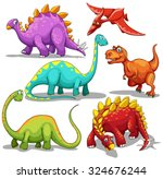different type of dinosaurs... | Shutterstock .eps vector #324676244