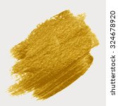 gold acrylic paint. brush... | Shutterstock .eps vector #324678920