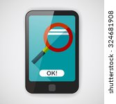 magnifying glass flat icon with ...