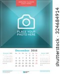 december 2016. wall monthly... | Shutterstock .eps vector #324684914