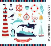 nautical vector design... | Shutterstock .eps vector #324687794